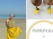PetiteFraise Fils Rêves: style tips part III. Summer sunshine girl yellow skirt asymmetrical earrings