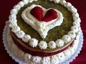 Cheesecake cioccolato bianco fragole kiwi