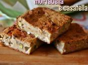 Torta pane, mortadella casatella Savoury bread pudding with cheese