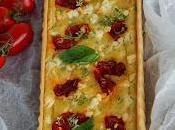 Goat cheese, tomato basil tarte