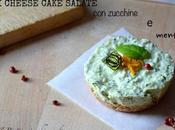 Mini cheese cake salate alle zucchine, menta pepe rosa