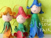 fatine fiori (col cartone delle uova) Flowers fairies (with boxes)