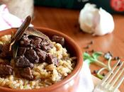 Risotto peposo alla fornacina salvia croccante Black pepper stew risotto with cruncy sage