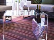 Pillole plexiglass: Tavolino portariviste trasparente