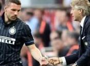 "saluto Mancini Podolski: ""Grazie tutto,"