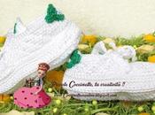 Scarpette stile Adidas Stan Smith realizzate uncinetto vari colori
