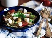 Insalata pasta stracchino capra Pasta salad with goat cheese