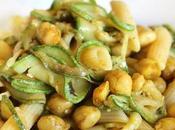 Insalata Pasta Zucchine marinate Ceci tostati Curry