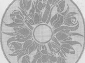 Schema filet: Centro rotondo tulipani