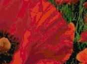 Schema punto croce: Papaveri