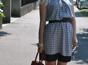 Outfit: black white printed dress abito stampato pomarance.name-