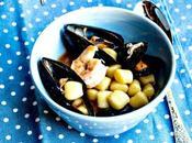 Gnocchetti guazzetto frutti mare Gnocchi with stewed seafood