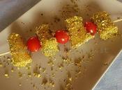 Spiedini paccheri mousse ricotta tonno crosta pistacchio Bronte