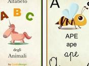 Simpatica applicazione insegnare piccoli l'alfabeto degli Animali