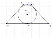 Problema svolto quadrilateri circoscritti circonferenza: determinare perimetro area trapezio circoscritto