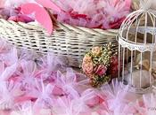 Bomboniere, fiori carta battesimo Elena