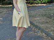 Outfit: yellow dress sling back shoes abito giallo abbinato accessori