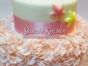 Starfish baptism cake