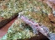 Focaccia ripiena porchetta zucchini alla farina farro grano saraceno