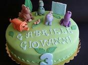nipotino della collega, torta dinosauri per...