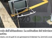 favole dell'abbandono: solitudine televisore