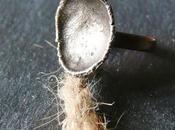 Anello rame argento fuso