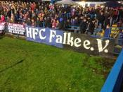 (VIDEO)HFC Falke e.V.'s fans show support United Manchester clash