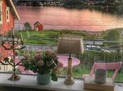 Toni pastello deliziosa casa norvegese