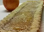 Crostata frolla aromatizzata frutti confettura mela rosa