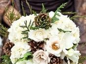 Unconventional winter wedding bouquet