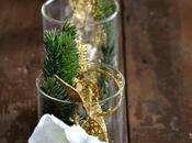 Natale Verde l'oro bianco centrotavola trasparente