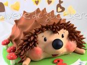 Torta riccio pasta zucchero compleanno bimbo