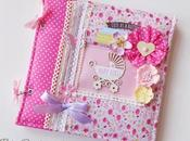 Album foto Bimba Copertina Stoffa Fabric Cover Baby girl photoalbum