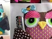 Gufi stoffa cartamodelli tutorial cucito creativo