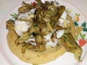Insalata baccala', ceci carciofi salade morue avec pois chiches artichauts salad with chickpeas artichokes