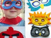 Maschere Carnevale tessuto fai-da-te