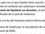 Certificazione residenza fiscale SGAE