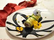 Cannolo zucchine, robiola, pistacchi maggiorana