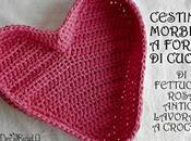 Cestino morbido forma cuore, crochet tutorial fotografico