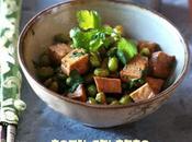 Tofu saltato edamame stir-fry