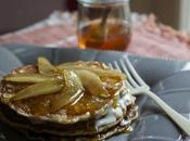 Pancakes farro miele, pecorino pere l'MTChallenge