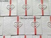 Partecipazioni matrimonio romantiche cuori nastro corallo collezione Lovely