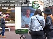 Bellissimo. pizza sogni poster interattivo. Effect.