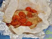 Tonno cartoccio pomodorini origano