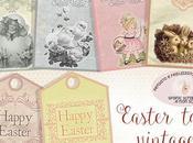 Etichette Stampabili stile vintage Pasqua, tocco classe tuoi doni