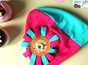 ancora freddo ma...per primavera siamo pronti questo cappellino jersey fiorelloso
