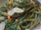 Spaghetti pesto verde carote