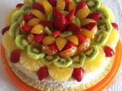 Torta alla frutta crema bavarese all'arancia