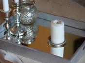 Specchio legno argentato vassoio elegante economico