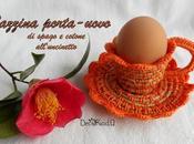 Tazzina porta-uovo solo) spago cotone all'uncinetto, spiegazioni